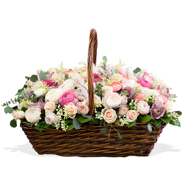 Корзина цветов с доставка астана милана, цветов без
